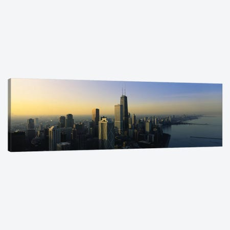 Buildings at the waterfront, Chicago, Cook County, Illinois, USA Canvas Print #PIM6550} by Panoramic Images Canvas Art