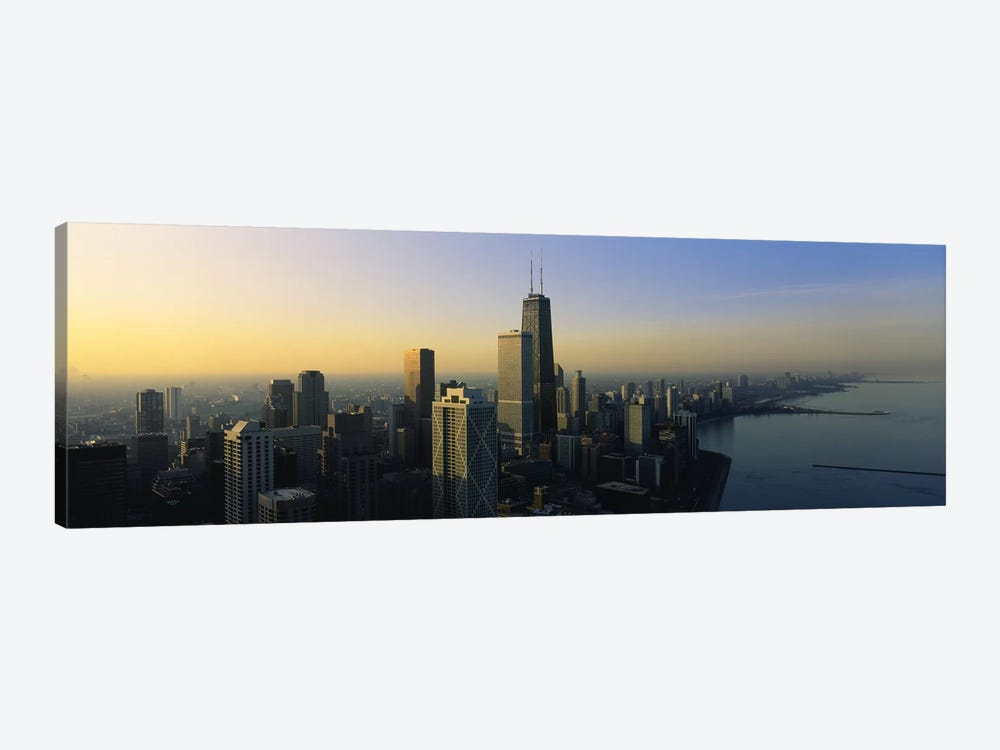 Buildings at the waterfront, Chicago, Cook County, Illinois, USA by Panoramic Images 1-piece Canvas Art Print