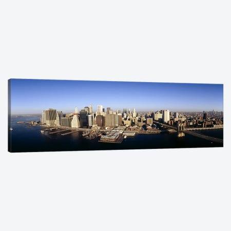 Aerial view of a cityscape, Manhattan, New York City, New York State, USA Canvas Print #PIM6551} by Panoramic Images Canvas Wall Art