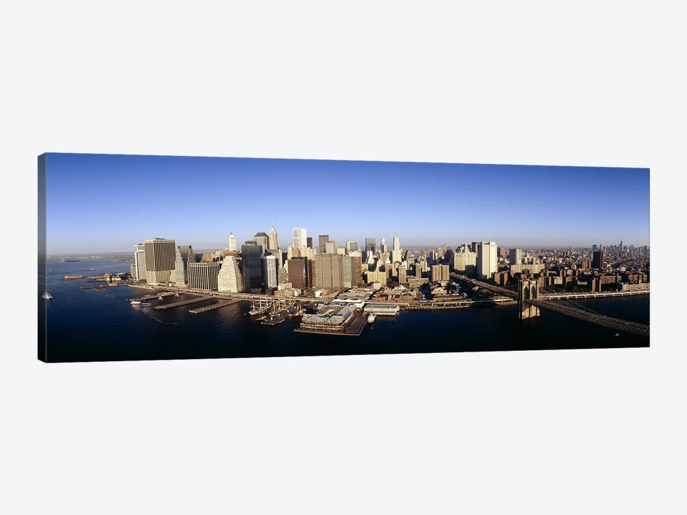 Aerial view of a cityscape, Manhattan, New York City, New York State, USA by Panoramic Images 1-piece Canvas Art