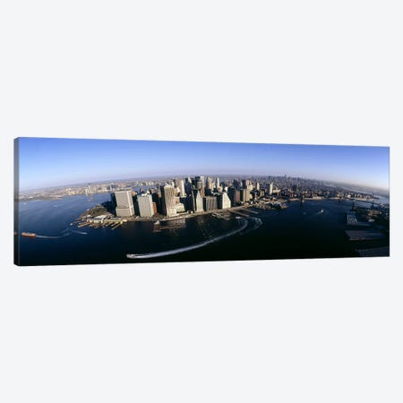 Aerial view of a cityscape, Manhattan, New York City, New York State, USA #2 Canvas Print #PIM6552} by Panoramic Images Canvas Art