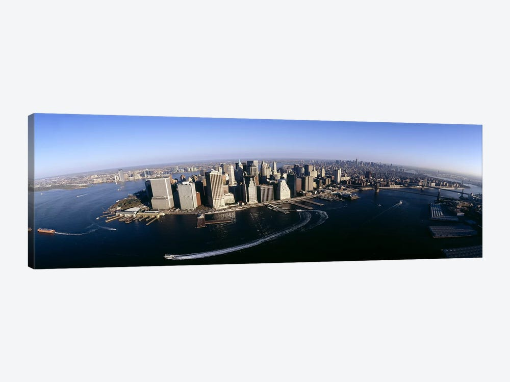 Aerial view of a cityscape, Manhattan, New York City, New York State, USA #2 by Panoramic Images 1-piece Canvas Art Print