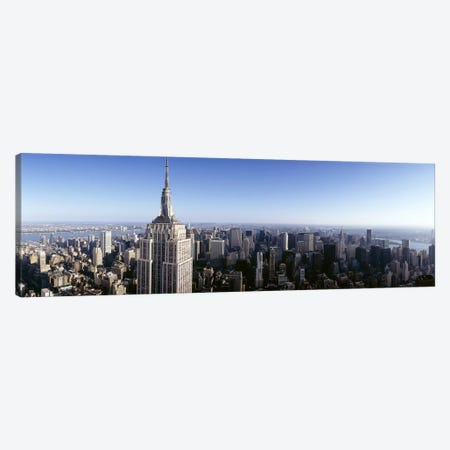 Aerial view of a cityscape, Empire State Building, Manhattan, New York City, New York State, USA Canvas Print #PIM6553} by Panoramic Images Canvas Wall Art