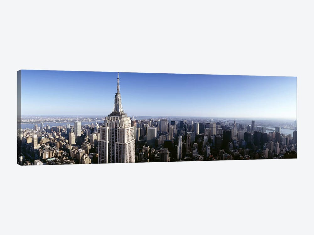 Aerial view of a cityscape, Empire State Building, Manhattan, New York City, New York State, USA by Panoramic Images 1-piece Canvas Artwork