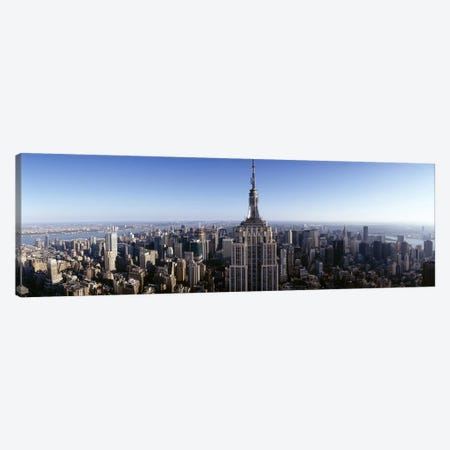Aerial view of a cityscape, Empire State Building, Manhattan, New York City, New York State, USA #2 Canvas Print #PIM6554} by Panoramic Images Canvas Print