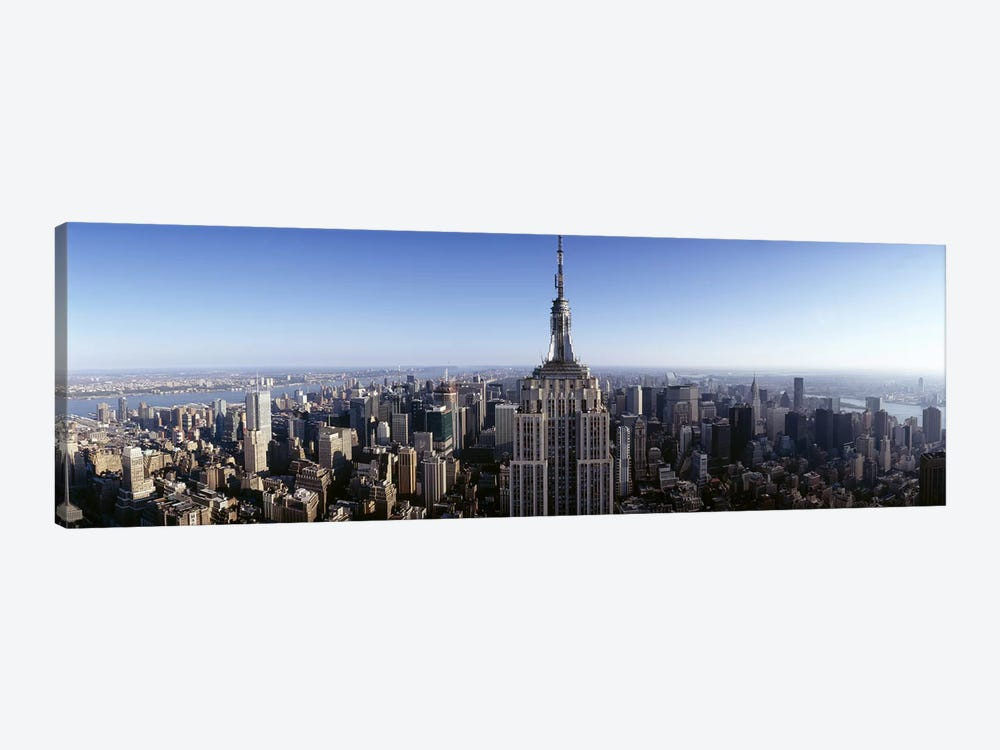 Aerial view of a cityscape, Empire State Building, Manhattan, New York City, New York State, USA #2 by Panoramic Images 1-piece Canvas Print