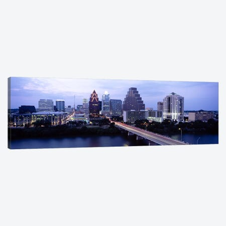 Bridge across a lake, Town Lake, Colorado River, Austin, Texas, USA Canvas Print #PIM6557} by Panoramic Images Art Print