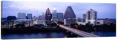 Bridge across a lake, Town Lake, Colorado River, Austin, Texas, USA Canvas Print #PIM6557
