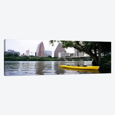 Yellow kayak in a reservoirLady Bird Lake, Colorado River, Austin, Travis County, Texas, USA Canvas Print #PIM6559} by Panoramic Images Canvas Artwork