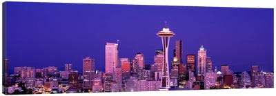 USAWashington, Seattle, night Canvas Art Print
