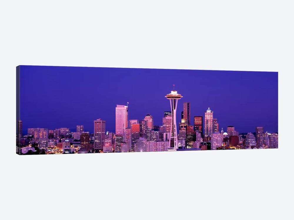 USAWashington, Seattle, night by Panoramic Images 1-piece Canvas Wall Art