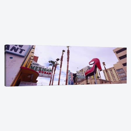 Low angle view of a sculpture of a high heel, Fremont Street, Las Vegas, Clark County, Nevada, USA Canvas Print #PIM6572} by Panoramic Images Canvas Art