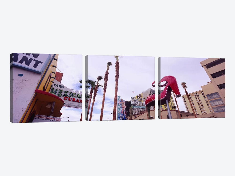 Low angle view of a sculpture of a high heel, Fremont Street, Las Vegas, Clark County, Nevada, USA by Panoramic Images 3-piece Art Print