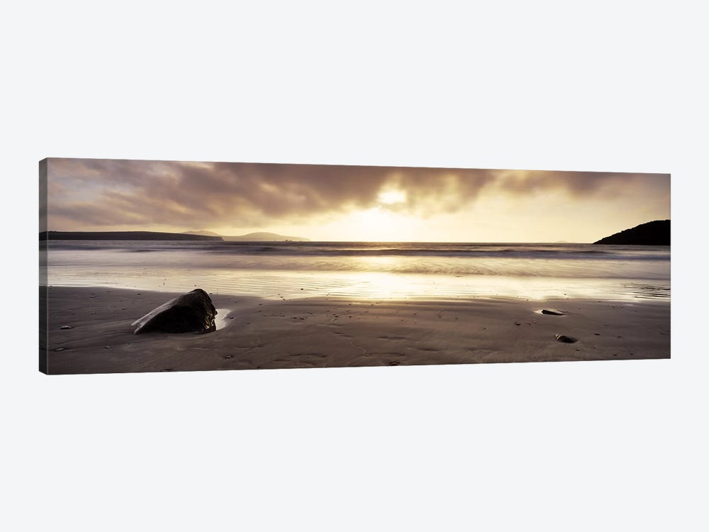 Seascape Sunset, Pembrokeshire, Wales, United Kingdom by Panoramic Images 1-piece Canvas Wall Art