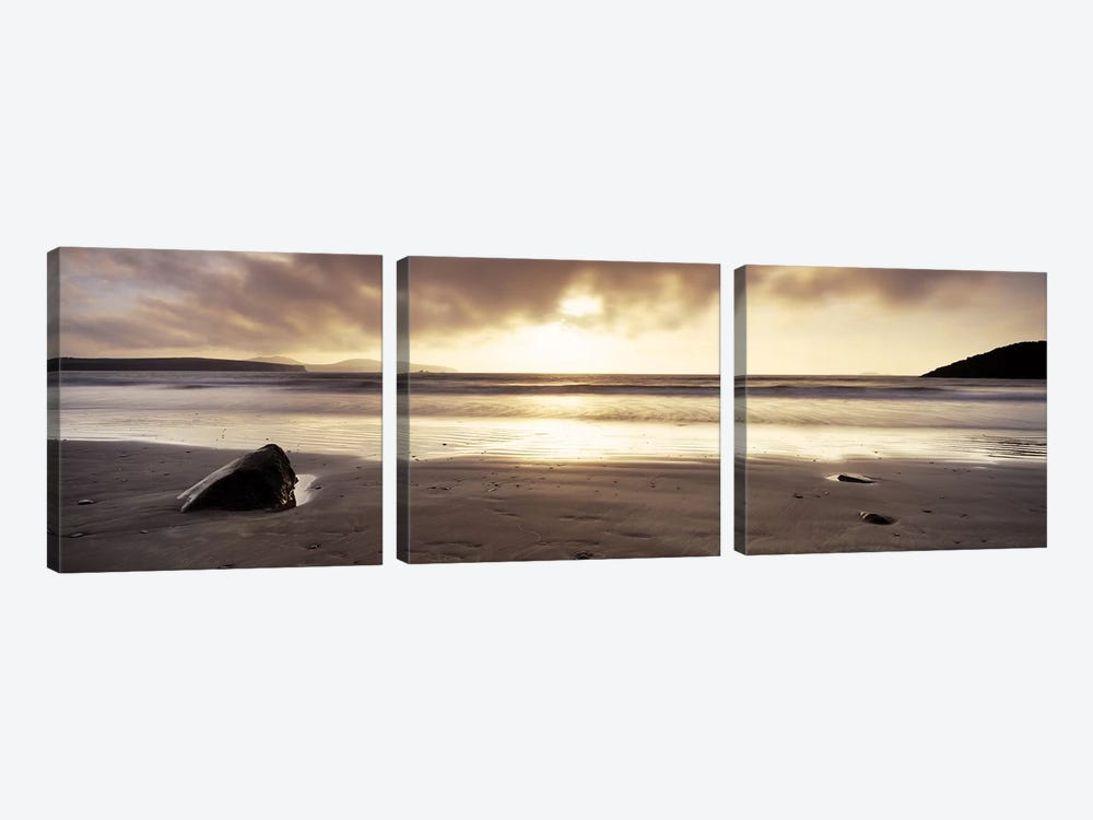 Seascape Sunset, Pembrokeshire, Wales, United Kingdom by Panoramic Images 3-piece Canvas Art