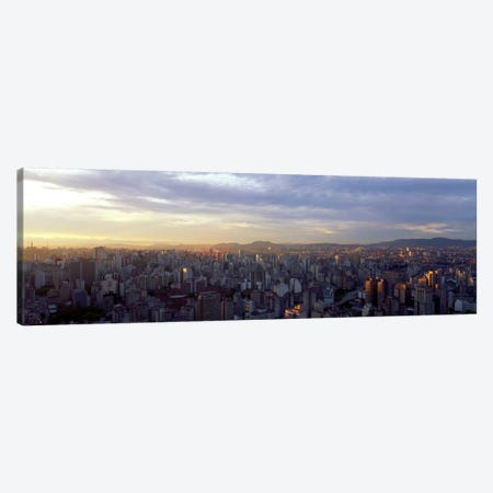 High-Angle View Of City Centre, Sao Paulo, Brazil Canvas Print #PIM657} by Panoramic Images Canvas Artwork