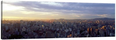 High-Angle View Of City Centre, Sao Paulo, Brazil Canvas Art Print