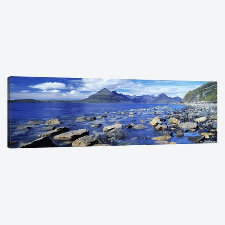 View Of Cuillin (Black Cuillin) From Elgol, Isle Of Skye, Highlands, Scotland Canvas Print #PIM6585} by Panoramic Images Canvas Artwork