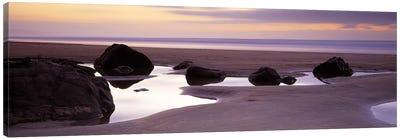 Rocks on the beachSandymouth Bay, Bude, Cornwall, England Canvas Print #PIM6589