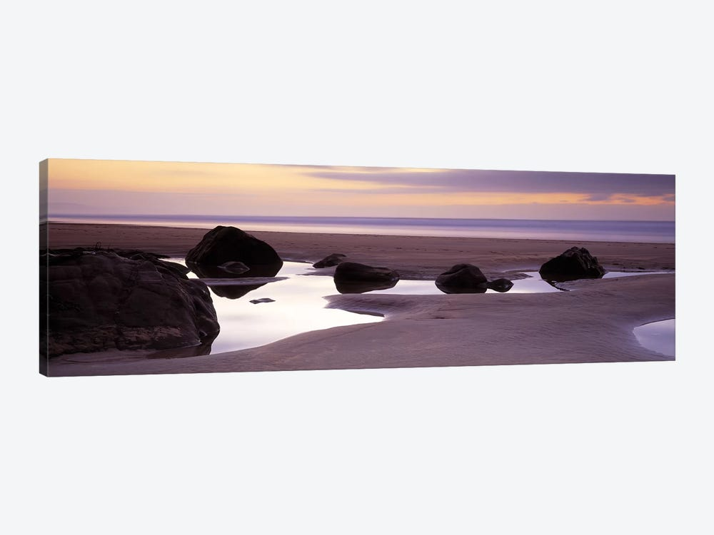 Rocks on the beachSandymouth Bay, Bude, Cornwall, England by Panoramic Images 1-piece Canvas Art Print