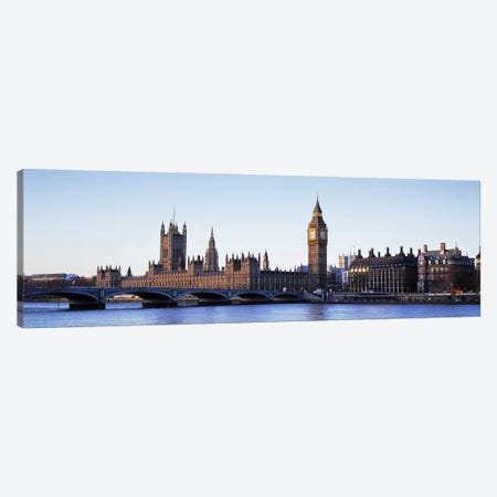 Government Buildings Along The River Thames, London, England, United Kingdom Canvas Print #PIM6592} by Panoramic Images Canvas Wall Art