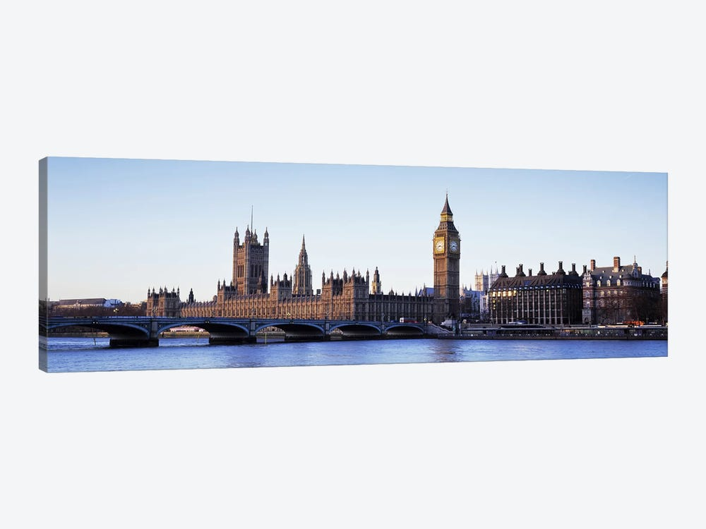 Government Buildings Along The River Thames, London, England, United Kingdom by Panoramic Images 1-piece Art Print