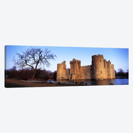 Moat around a castle, Bodiam Castle, East Sussex, England Canvas Print #PIM6594} by Panoramic Images Canvas Print