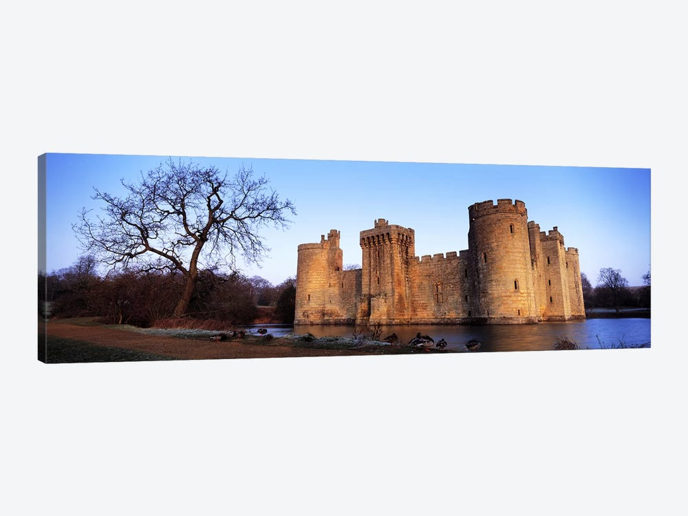 Moat around a castle, Bodiam Castle, East Sussex, England by Panoramic Images 1-piece Canvas Art Print
