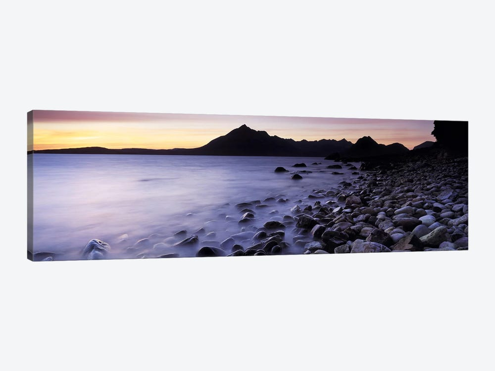 Rocks on the beach, Elgol Beach, Elgol, looking towards Cuillin Hills, Isle Of Skye, Scotland by Panoramic Images 1-piece Canvas Art Print