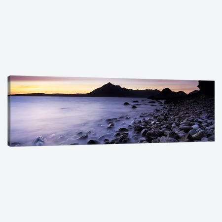 Rocks on the beach, Elgol Beach, Elgol, looking towards Cuillin Hills, Isle Of Skye, Scotland Canvas Print #PIM6598} by Panoramic Images Canvas Wall Art