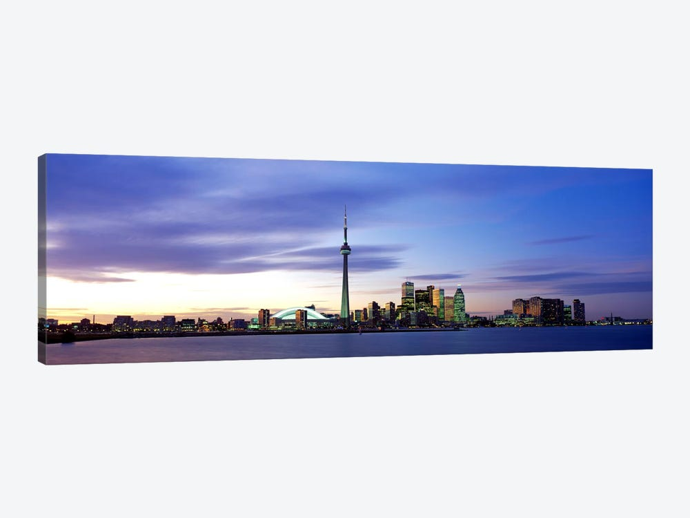 Skyline At Dusk, Toronto, Ontario, Canada by Panoramic Images 1-piece Canvas Art Print