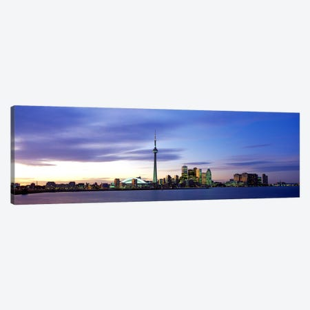 Skyline At Dusk, Toronto, Ontario, Canada Canvas Print #PIM65} by Panoramic Images Canvas Art Print