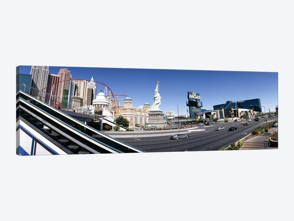 Buildings in a city, New York New York Hotel, MGM Casino, The Strip, Las Vegas, Clark County, Nevada, USA by Panoramic Images 1-piece Canvas Art Print