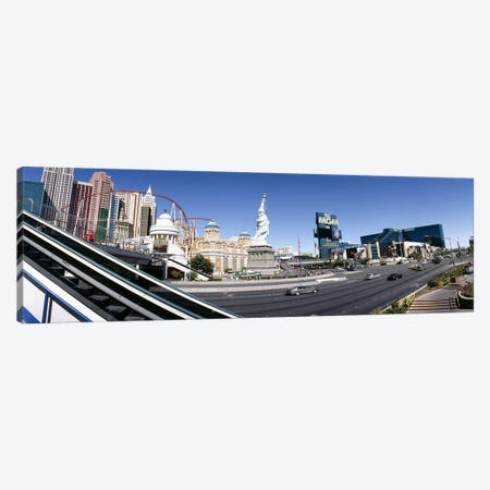 Buildings in a city, New York New York Hotel, MGM Casino, The Strip, Las Vegas, Clark County, Nevada, USA Canvas Print #PIM6609} by Panoramic Images Canvas Wall Art
