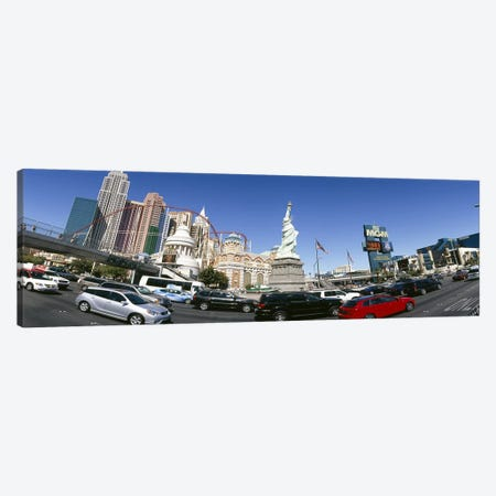 Buildings in a city, New York New York Hotel, MGM Casino, Excalibur Hotel and Casino, The Strip, Las Vegas, Clark County, Nevada, USA Canvas Print #PIM6610} by Panoramic Images Art Print