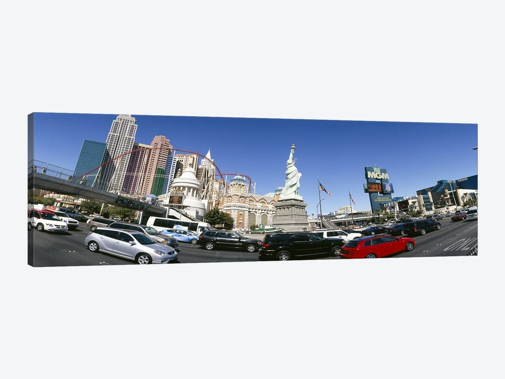 Buildings in a city, New York New York Hotel, MGM Casino, Excalibur Hotel and Casino, The Strip, Las Vegas, Clark County, Nevada by Panoramic Images 1-piece Art Print