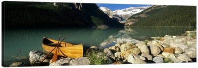 Lone Canoe, Lake Louise, Banff National Park, Alberta, Canada Canvas Print #PIM6616