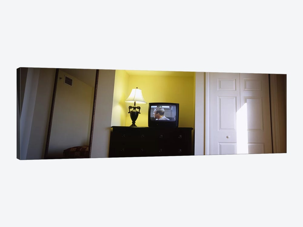 Television and lamp in a hotel room, Las Vegas, Clark County, Nevada, USA by Panoramic Images 1-piece Canvas Art Print