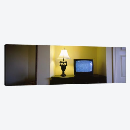 Television and lamp in a hotel room, Las Vegas, Clark County, Nevada, USA #2 Canvas Print #PIM6630} by Panoramic Images Canvas Art Print