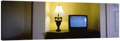 Television and lamp in a hotel room, Las Vegas, Clark County, Nevada, USA #2 Canvas Print #PIM6630
