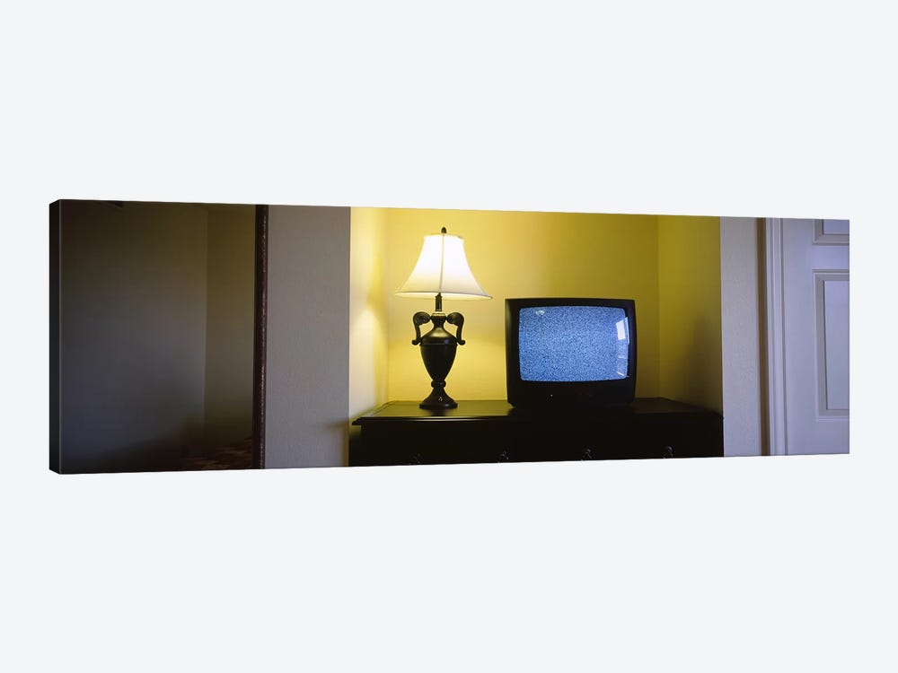 Television and lamp in a hotel room, Las Vegas, Clark County, Nevada, USA #2 by Panoramic Images 1-piece Canvas Print