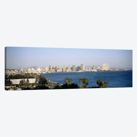 City at the waterfront, San Diego, San Diego Bay, San Diego County, California, USA Canvas Print #PIM6633} by Panoramic Images Canvas Art Print