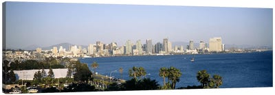 City at the waterfront, San Diego, San Diego Bay, San Diego County, California, USA Canvas Print #PIM6633