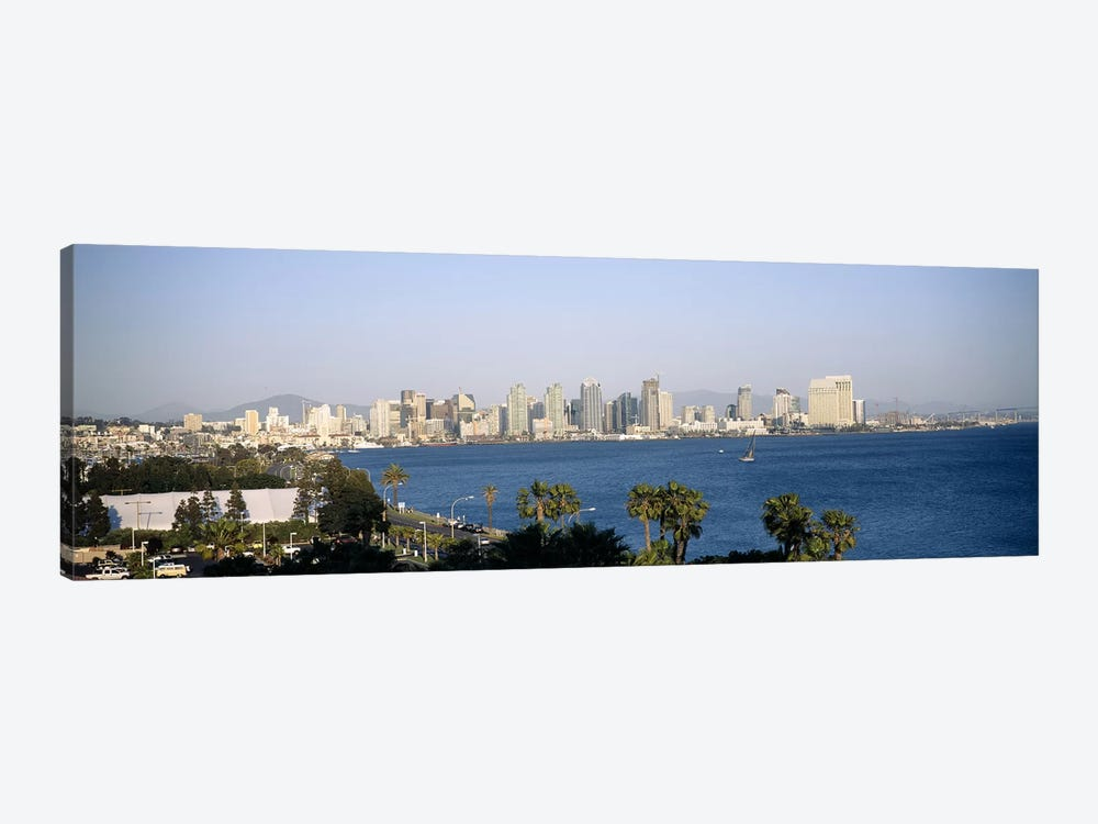 City at the waterfront, San Diego, San Diego Bay, San Diego County, California, USA by Panoramic Images 1-piece Canvas Art