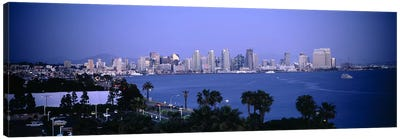 City at the waterfront, San Diego, San Diego Bay, San Diego County, California, USA #2 Canvas Art Print
