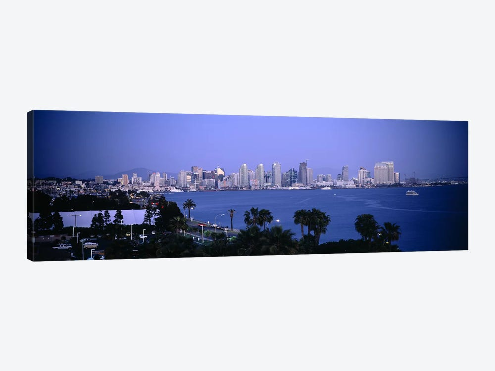 City at the waterfront, San Diego, San Diego Bay, San Diego County, California, USA #2 by Panoramic Images 1-piece Canvas Print