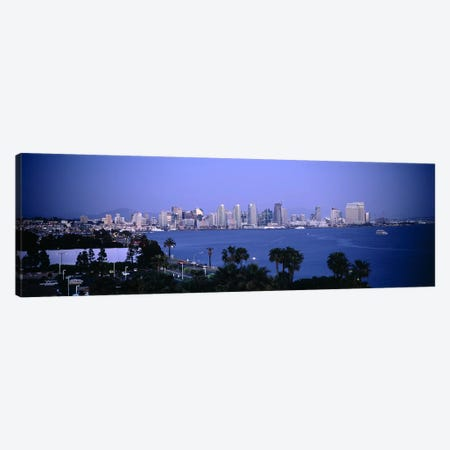 City at the waterfront, San Diego, San Diego Bay, San Diego County, California, USA #2 Canvas Print #PIM6634} by Panoramic Images Canvas Artwork