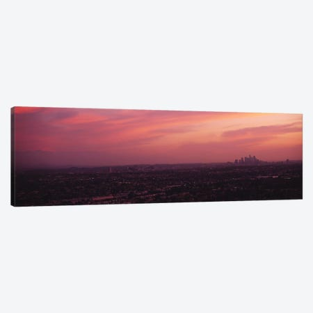 Buildings in a city, Hollywood, San Gabriel Mountains, City Of Los Angeles, Los Angeles County, California, USA Canvas Print #PIM6637} by Panoramic Images Canvas Art