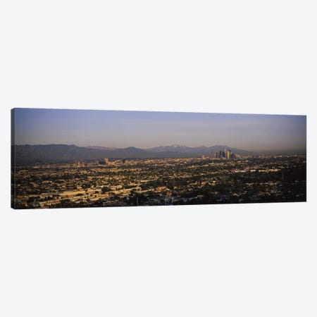 Buildings in a city, Hollywood, San Gabriel Mountains, City Of Los Angeles, Los Angeles County, California, USA #2 Canvas Print #PIM6638} by Panoramic Images Canvas Art Print