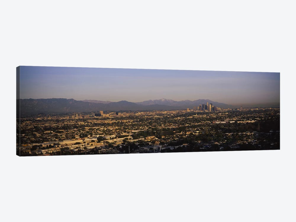 Buildings in a city, Hollywood, San Gabriel Mountains, City Of Los Angeles, Los Angeles County, California, USA #2 by Panoramic Images 1-piece Canvas Print